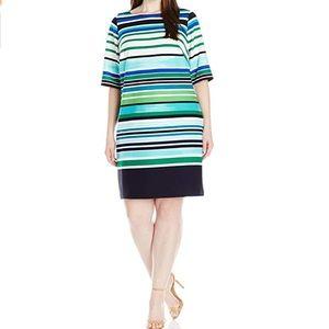 Stripes dress by Eliza J size 16 W plus size